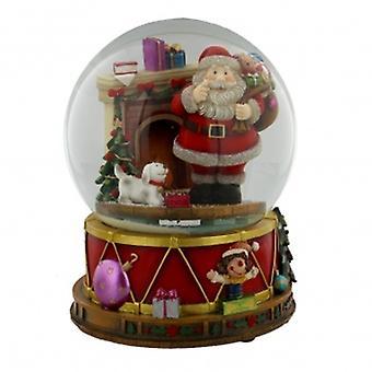 Widdop Bingham Handpainted Musical Santa Snowglobe - 12 Tunes