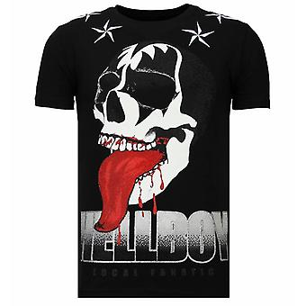 Hellboy-Rhinestone T-shirt-Black