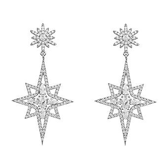 Earrings Northern Star Starburst 925 Silver Statement Drop Latelita Designer