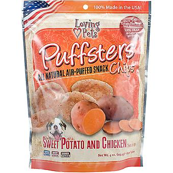Puffsters Treat Chips 4oz-Sweet Potato & Chicken LP5120