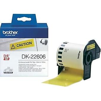 Brother Labels (roll) 62 mm x 15.24 m Film Yellow