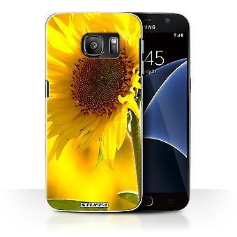 STUFF4 Case/Cover for Samsung Galaxy S7/G930/Yellow Flower/Floral Garden Flowers