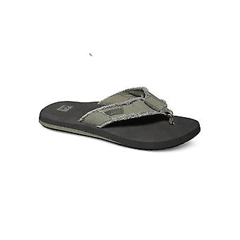 Quiksilver Monkey Abyss Flip Flops - Green / Black / Brown