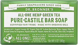 Dr Bronner All-One Hemp Green Tea Pure-Castile Soap Bar