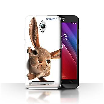 STUFF4 Case/Cover for Asus Zenfone Go ZC500TG/Peeking Bunny/Funny Animals