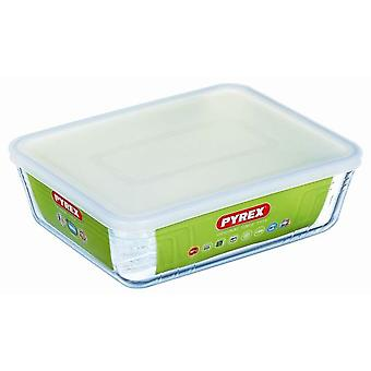 Pyrex Rectangular container with lid 19X14 241 0.8