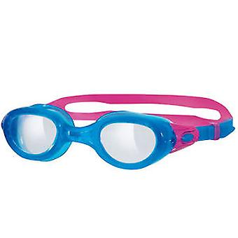 Zoggs Phantom Clear Swim Goggle - Blue/Pink Frame