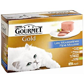 Gourmet Gold 12-pack Fijne Mousse 12x85 Gr