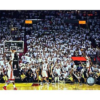 Ray Allen Game Tying Three Pointer Game 6 of the 2013 NBA Finals Photo Print