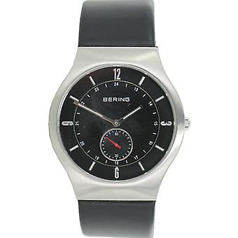 Bering mens watch wristwatch slim classic - 11940-409 leather strap