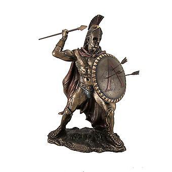 Guerrero griego rey Leonidas de Sparta bronce estatua