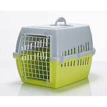 Trotter 2 Pet Carrier Airline Approved Lime/grey 56x37.5x33cm (Pack of 3)