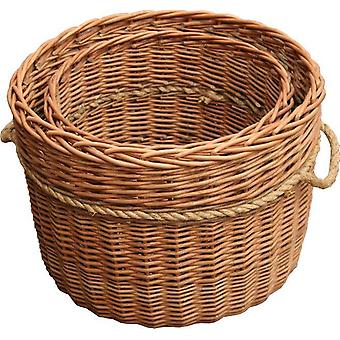 Set of 2 Kendal Log Baskets