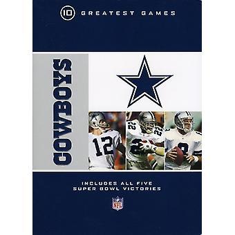 Dallas Cowboys 10 største spil [DVD] USA importerer