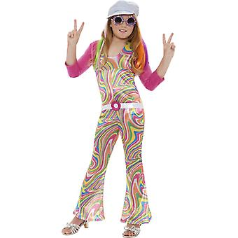 Hippie costume 60s hippie girl child costume 6-8 years