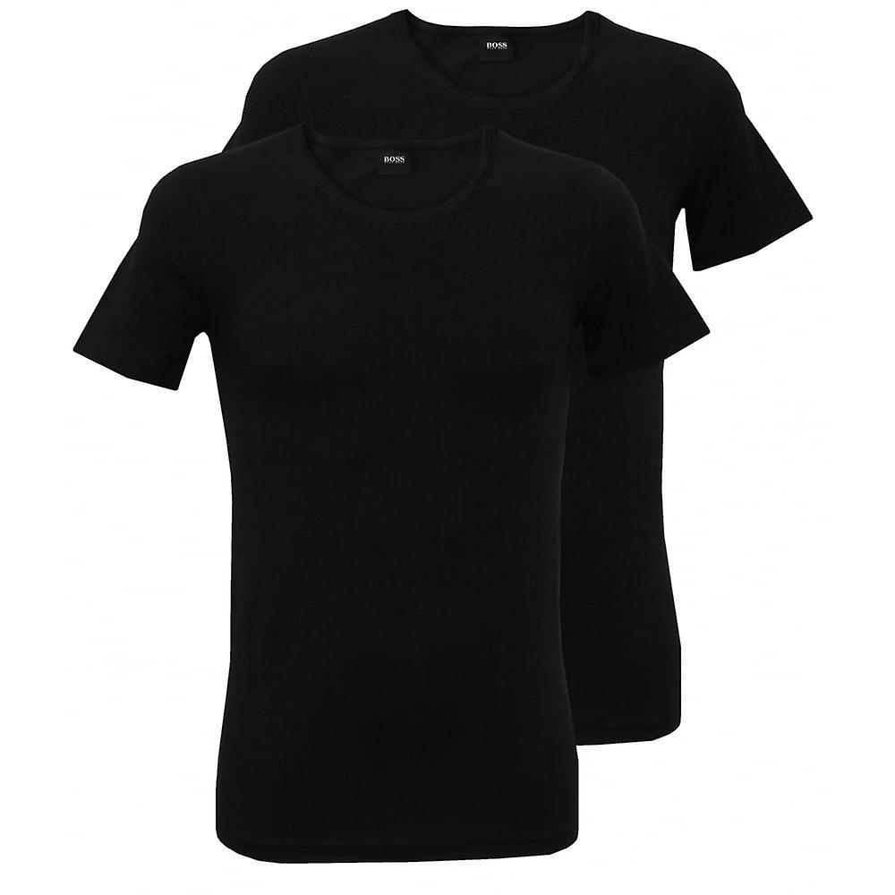 Hugo Boss 2er-Pack Slim-Fit Crew-Neck T-Shirt, schwarz
