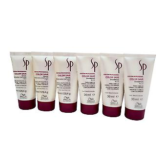 Wella System Professional Color Save Mask 1 OZ Travel Set of 6