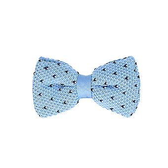 Marcell Sanders men fly loop tie cotton knitted look bound blue light blue