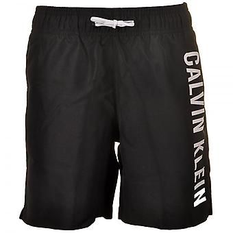 Calvin Klein Boys Intense Power Swim Shorts, Black, Medium