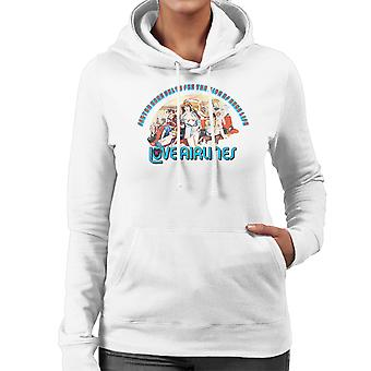 Love Airlines Ride Of Your Life Orgy Women's Hooded Sweatshirt