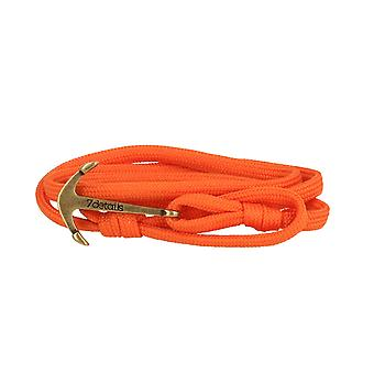 7details premium anchor bracelet for men and women in terracotta Orange made in Spain