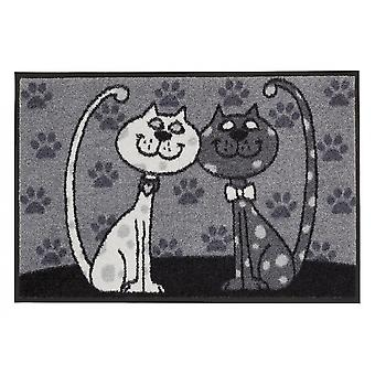 Cat couples 50 x 75 cm, washable floor mat Salon lion