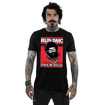 Run DMC Men's Santa Christmas T-Shirt