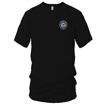 USAF Airforce - F-35 Lighting II Air Vehicle Embroidered Patch - Mens T Shirt