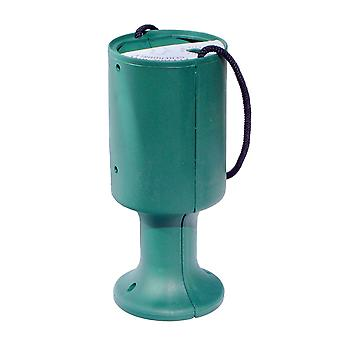 10 Round Charity Money Collection Boxes - Bottle Green