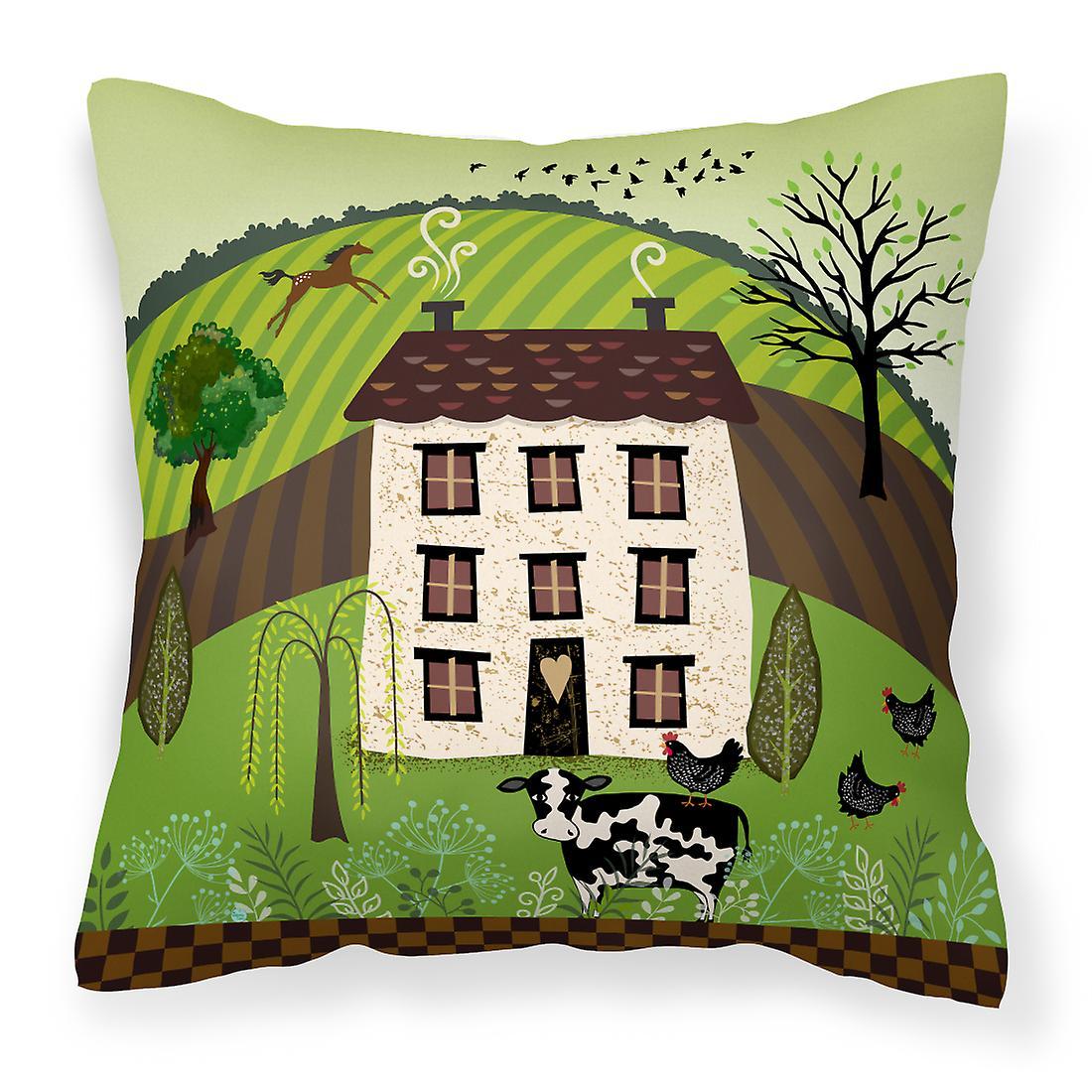 Décoratif Country Art Oreiller House Tissu Folk uZiOPkX