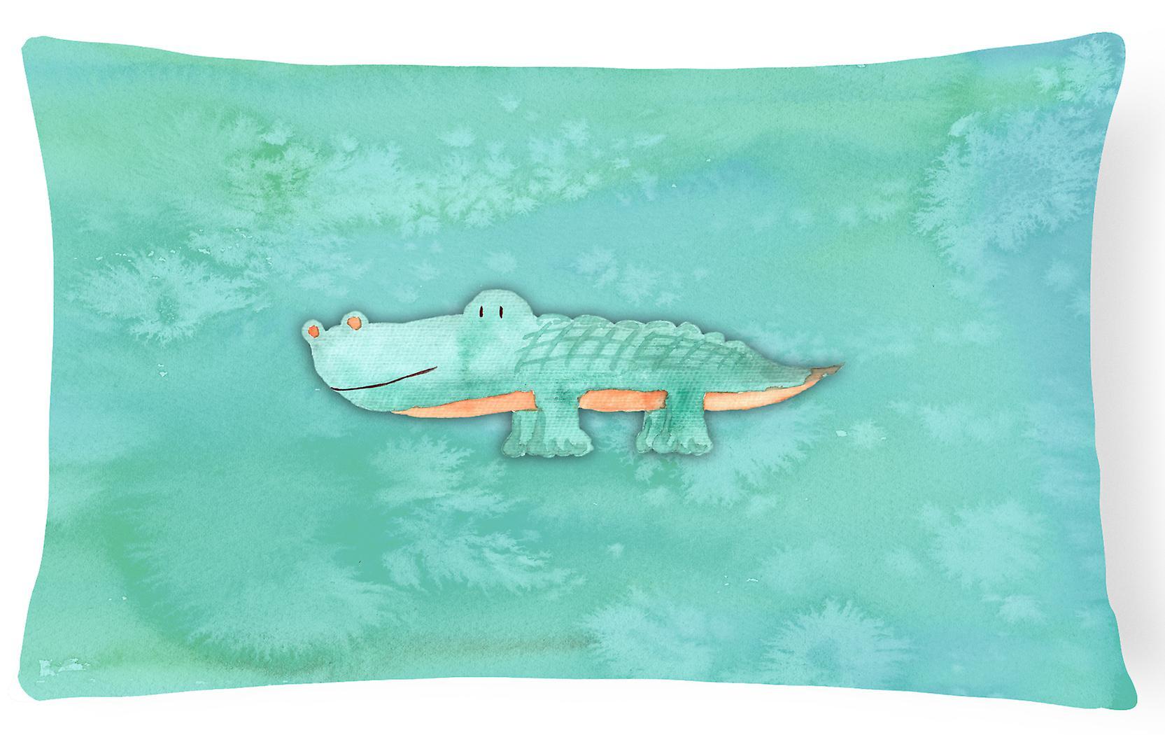 Aquarelle Décoratif Alligator Tissu Oreiller Toile OkXZwuPiT