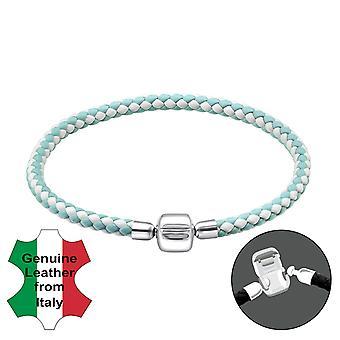Almindelig - 925 sterlingsølv + ledning perle armbånd
