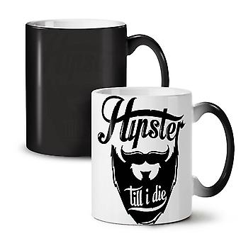 Hippie Beard Vintage NEW Black Colour Changing Tea Coffee Ceramic Mug 11 oz   Wellcoda