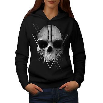 Треугольник рок металл женщин BlackHoodie | Wellcoda