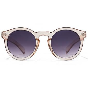 M:UK Camden Vintage Round With Stud Detail Sunglasses In Peach
