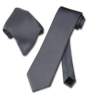 Vesuvio Napoli Solid NeckTie Handkerchief Men's Neck Tie Set