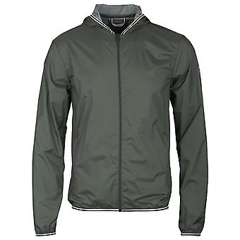 Pyrenex Jungle Green Hooded Waterproof Hendrick Light Jacket