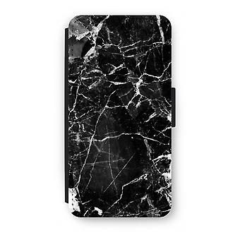 Samsung Galaxy S8 Plus Flip Case - Black Marble 2