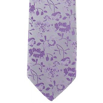 Michelsons of London Subtle Floral Polyester Tie - Purple