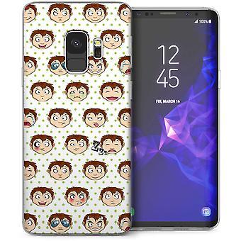 Samsung Galaxy S9 tegneserie fræk dreng TPU Gel sag-hvid