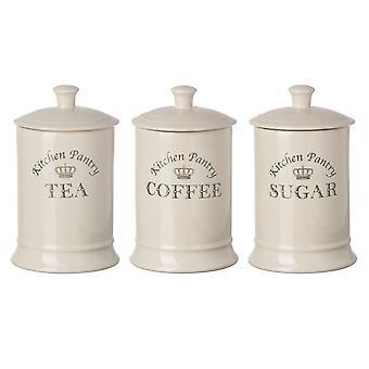 Tuftop Majestic Tea Coffee Sugar Canisters Set