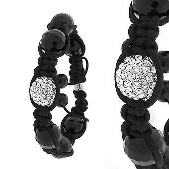 Unisex PAVE ball bracelet - ONE black / silver