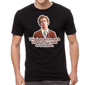 Napoleon Dynamite Worst Video Men's Black Funny T-shirt