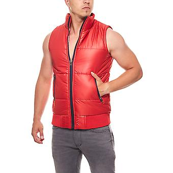 Tazzio fashion men's quilted vest red transition jacket