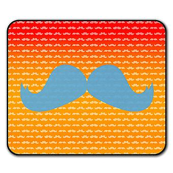 Hippie Moustache  Non-Slip Mouse Mat Pad 24cm x 20cm   Wellcoda