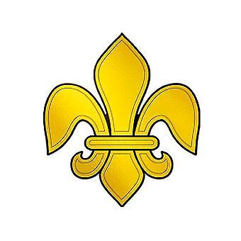 Tłoczone folią Fleur De Lis sylwetka wyłącznik