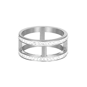 ESPRIT women's ring stainless steel Silver JW50218 cubic zirconia ESRG12698A1