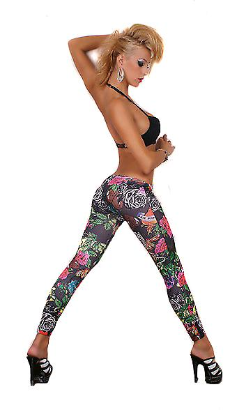 Waooh - Mode - Leggings imprimé fleur - Long