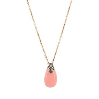 Joop women's chain necklace silver cubic zirconia coral JPNL90680C420