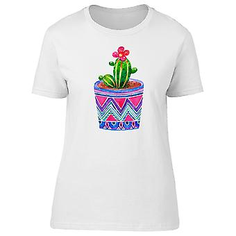 Cactus In Ethnic Pot Tee Women's -Image by Shutterstock